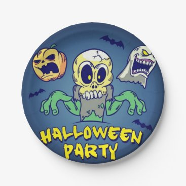 Halloween Themed Spooky Halloween Party Paper Plate
