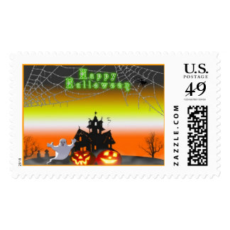 Spooky Halloween Postage