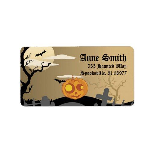 Spooky Halloween Pumpkin Address Labels