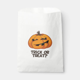 Spooky Halloween Pumpkin Trick or Treat Favor Bags