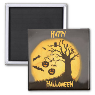 Spooky Halloween Scene Refrigerator Magnet