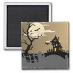 Spooky Halloween Scene Magnet