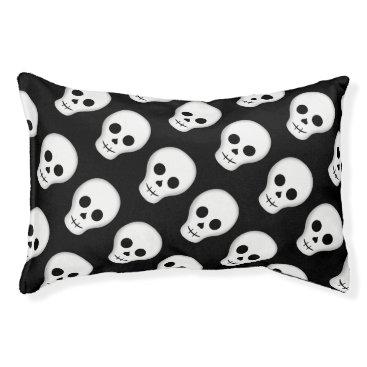 Halloween Themed Spooky Halloween skull Pet Bed