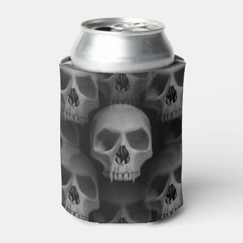 Spooky Halloween skulls Can Cooler