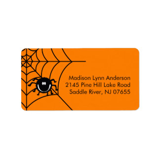Spooky Halloween Spider  Return Address Labels.