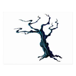 Spooky Halloween Tree Postcard