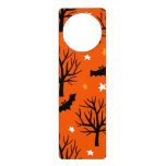 Spooky Halloween Tree with Bats and Stars Door Hanger