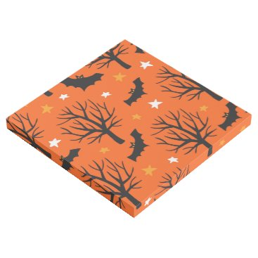 Halloween Themed Spooky Halloween Tree with Bats and Stars Gallery Wrap