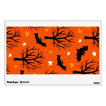 Halloween Themed Spooky Halloween Tree with Bats and Stars Wall Sticker
