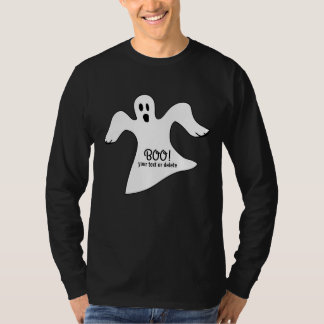 Spooky Halloween White Ghost Saying BOO! T-Shirt