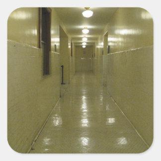 Spooky Hallway Square Sticker