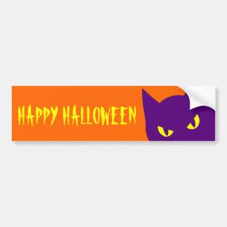 Spooky Happy Halloween Kitty Cat Scary Bumper Sticker