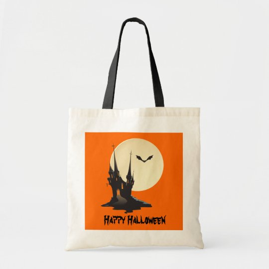 Spooky Haunted Castle Happy Halloween Tote Bag