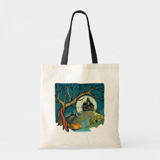 Spooky Haunted House Budget Tote Bag