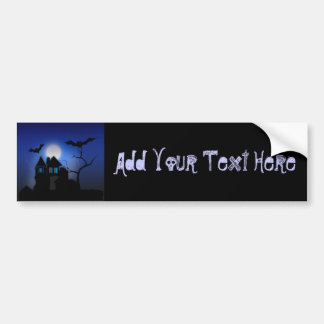 Spooky Haunted House Car Bumper Sticker