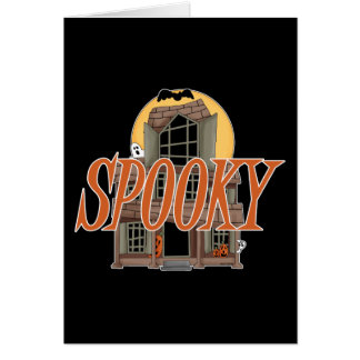 Spooky Haunted House Cards