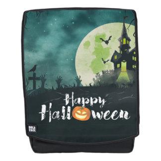 Spooky Haunted House Costume Night Sky Halloween Backpack