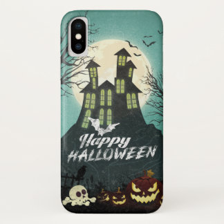 Spooky Haunted House Costume Night Sky Halloween iPhone X Case