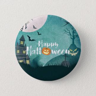 Spooky Haunted House Costume Night Sky Halloween Pinback Button