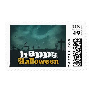 Spooky Haunted House Costume Night Sky Halloween Postage Stamp
