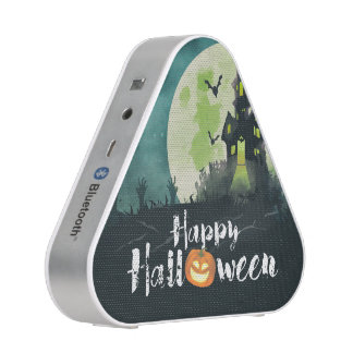 Spooky Haunted House Costume Night Sky Halloween Speaker