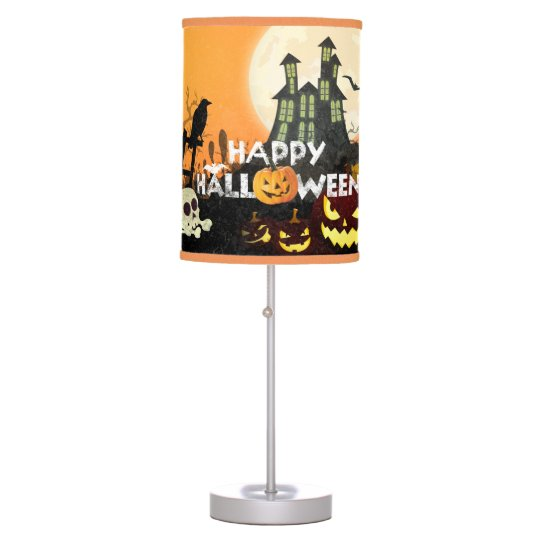 Spooky Haunted House Costume Night Sky Halloween Table L&  sc 1 st  Zazzle & Spooky Haunted House Costume Night Sky Halloween Table Lamp   Zazzle.com
