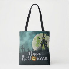 Spooky Haunted House Costume Night Sky Halloween Tote Bag at Zazzle