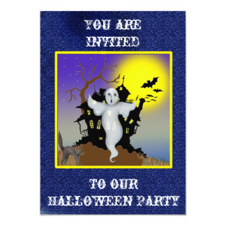Spooky Haunted House & Ghost Party Invitation