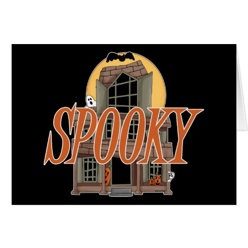 Spooky Haunted House Greeting Card