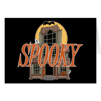 Spooky Haunted House Greeting Cards