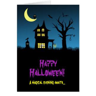 Spooky Haunted House Halloween Card