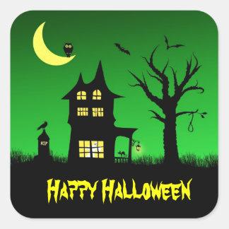 Spooky Haunted House Halloween Decorative Sticker