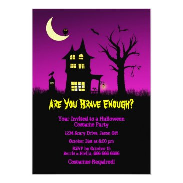 Lasting__Impressions Spooky Haunted House Halloween Party Card
