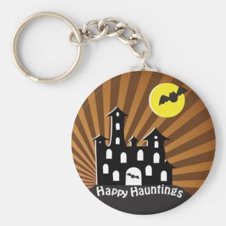 Spooky Haunted House Keychain