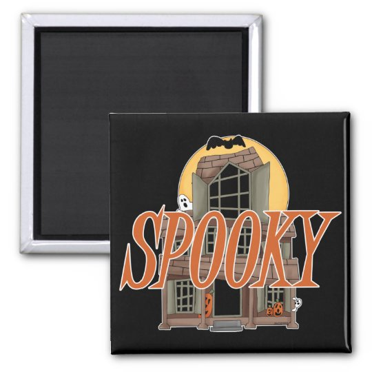 Spooky Haunted House Magnet