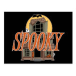 Spooky Haunted House Postcard