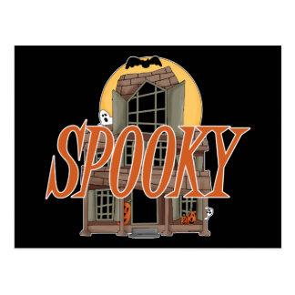 Spooky Haunted House Postcard