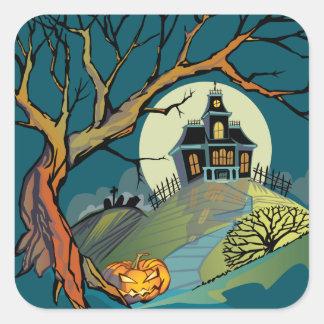 Spooky Haunted House Sticker
