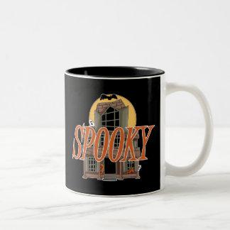 Spooky Haunted House Two-Tone Coffee Mug