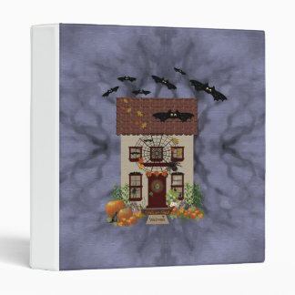 Spooky Hauted House Bats 3 Ring Binder