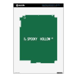 Spooky Hollow Rd, Street Sign, North Carolina, US iPad 3 Decals