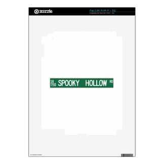 Spooky Hollow Rd, Street Sign, North Carolina, US Skin For iPad 2