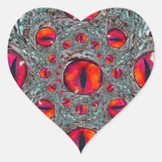 Spooky Holloweeen Eyes gifts by Sharles Heart Sticker