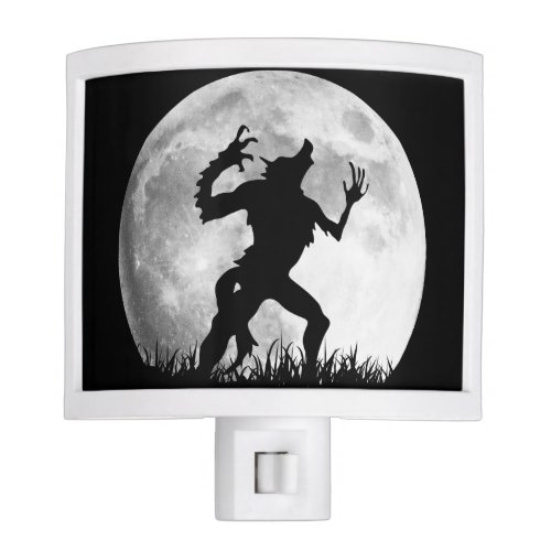 Spooky Horror Werewolf at the Full Moon Nite Light
