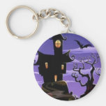 Spooky house design key chains