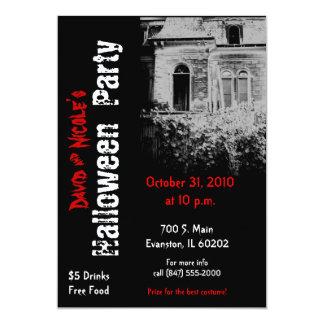 spooky house halloween party invitation