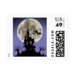 Spooky House Halloween Stamp