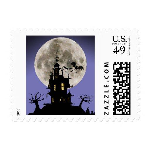 Spooky House Halloween Stamp