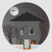 Spooky House Halloween Stickers