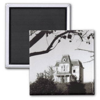 Spooky House on the Hill 2 Inch Square Magnet